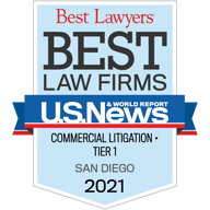 "Best Lawyers ""Best Law Firms"" - Commercial Litigation Tier 1, 2016"