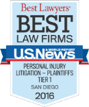"Best Lawers ""Best Law Firms"" - Personal Injury Litigation Plaintifs Tier 1, 2016"